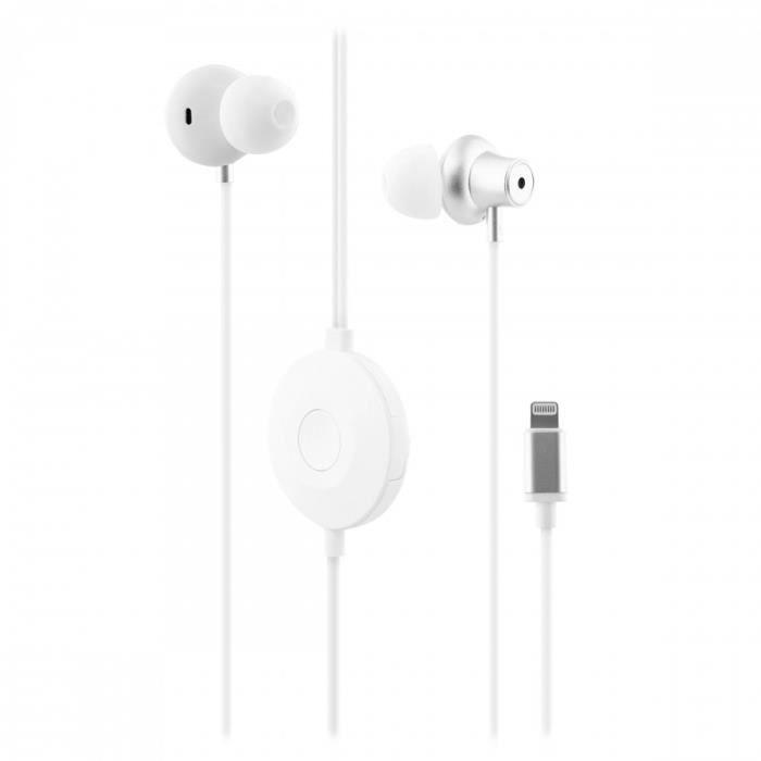 TNB SENSATION - Ecouteurs anti-bruit LIGHTNING - Blanc
