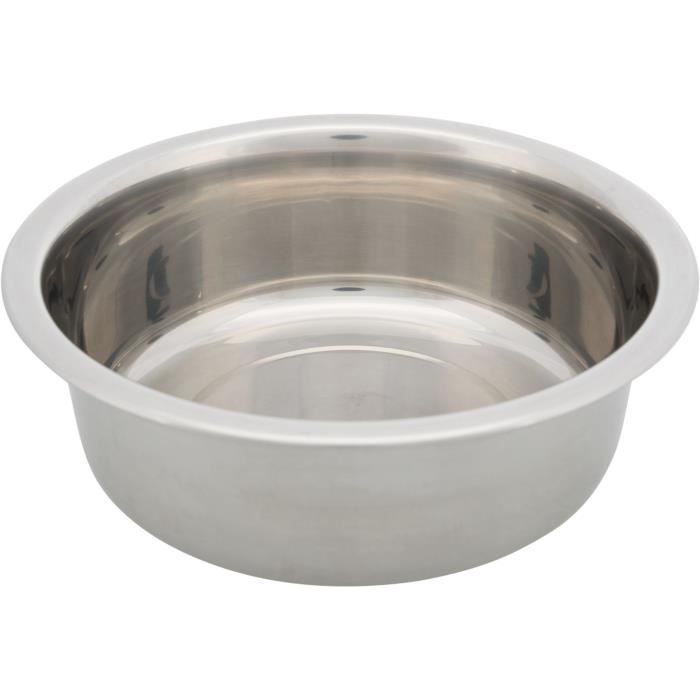 TRIXIE Gamelle en acier inox - 1,6 l - Ø 21 cm - Pour chien