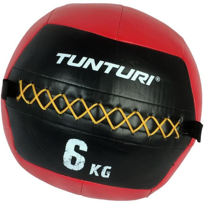 TUNTURI Balle murale wall ball crossfit 6kg rouge