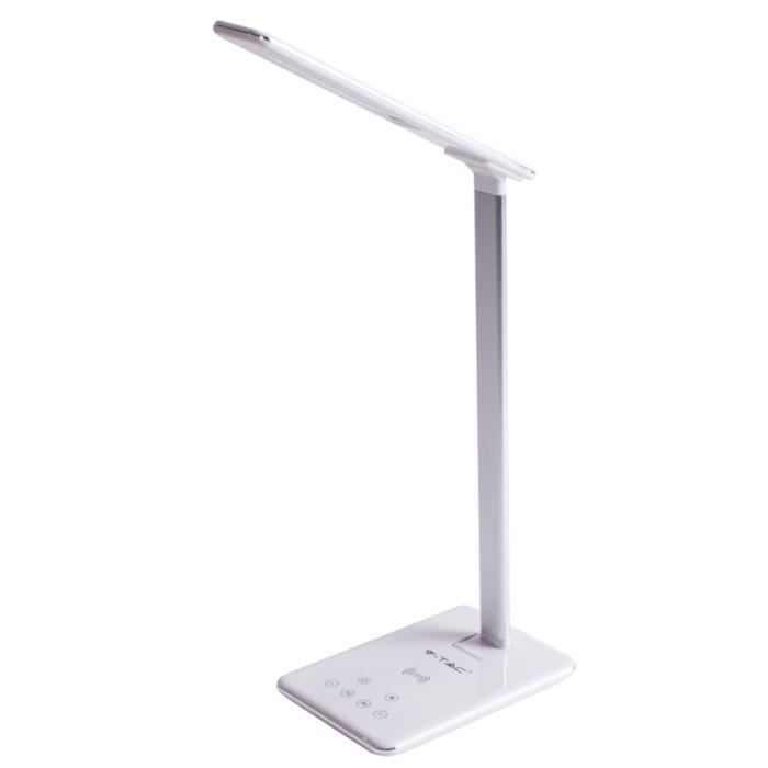 Lampe de table LED, variateur tactile, recharge sans fil, h 37 cm, vt-7405