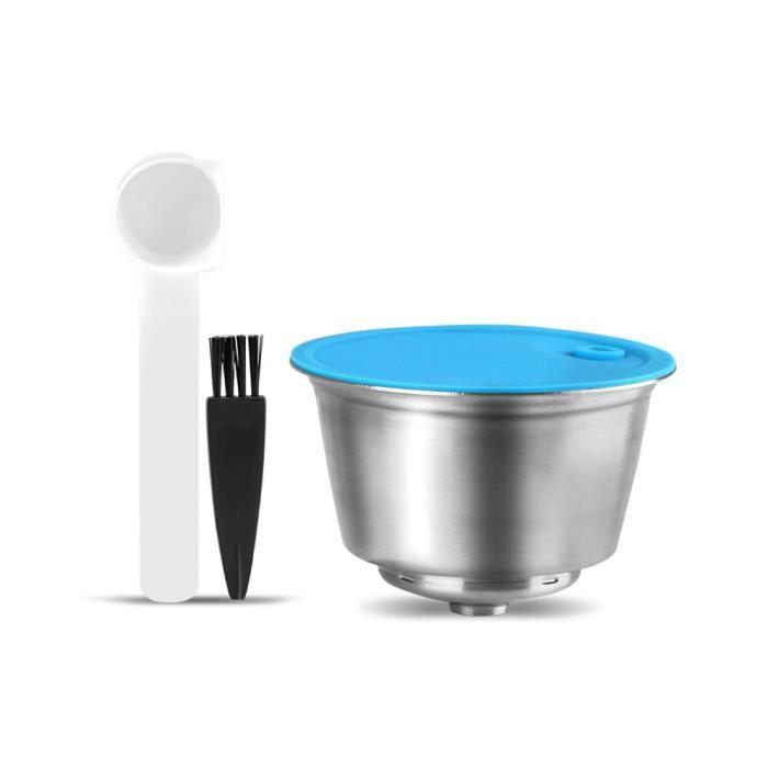 1 capsule -Capsules de café réutilisables,pour Dolce Gusto,en acier inoxydable,filtre pour nescafé,Machine à café,crème