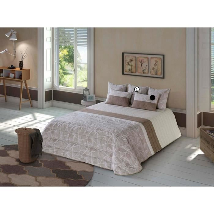 mulan boutis taupe achat vente jet e de lit boutis cdiscount. Black Bedroom Furniture Sets. Home Design Ideas