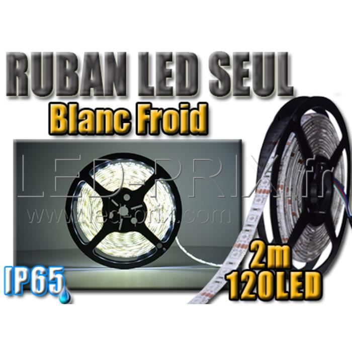 ruban led blanc froid 120 leds tanche ip65 2 m achat. Black Bedroom Furniture Sets. Home Design Ideas