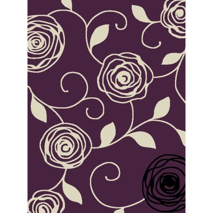 Tapis Moderne Violet 160x230 1233 Achat Vente Tapis Cdiscount