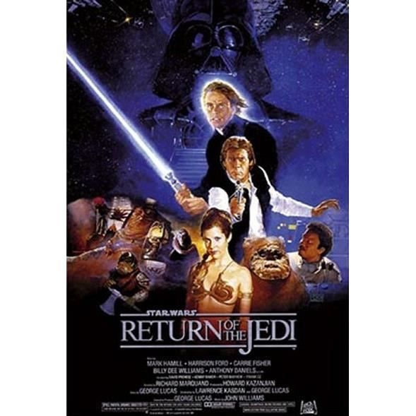 affiche star wars return of the jedi achat vente affiche cdiscount. Black Bedroom Furniture Sets. Home Design Ideas