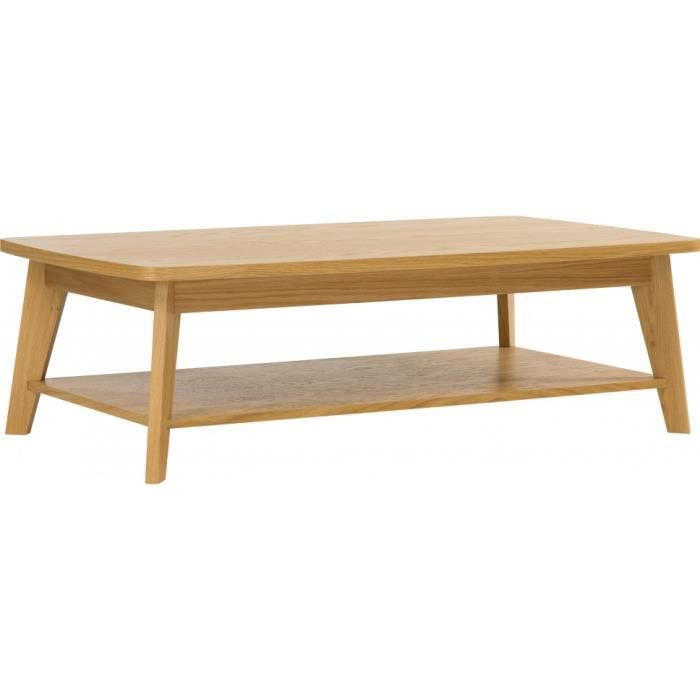 Table Basse Scandinave Ch Ne Naturel Double Plateau