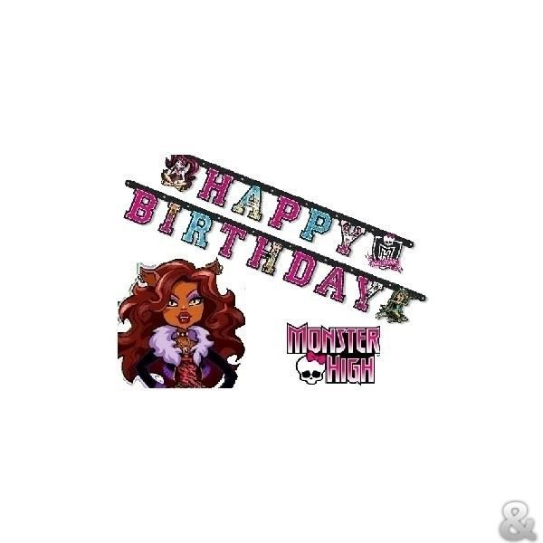 Monster high guirlande anniversaire achat vente banderole banni re cdiscount - Decoration anniversaire monster high ...