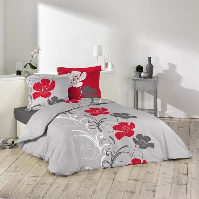 housse de couette flanelle 220x240 frise florale achat vente housse de co. Black Bedroom Furniture Sets. Home Design Ideas