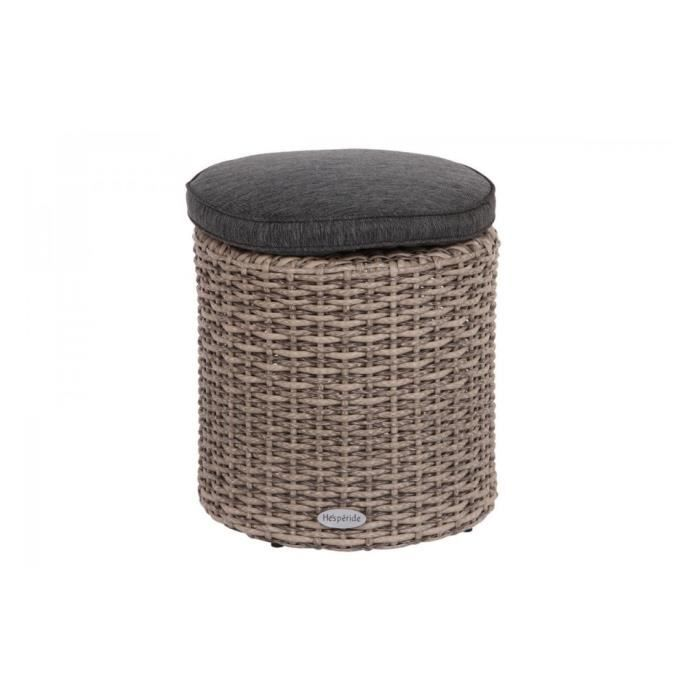 pouf exterieur rhodes resine synthetique gris 3d achat. Black Bedroom Furniture Sets. Home Design Ideas