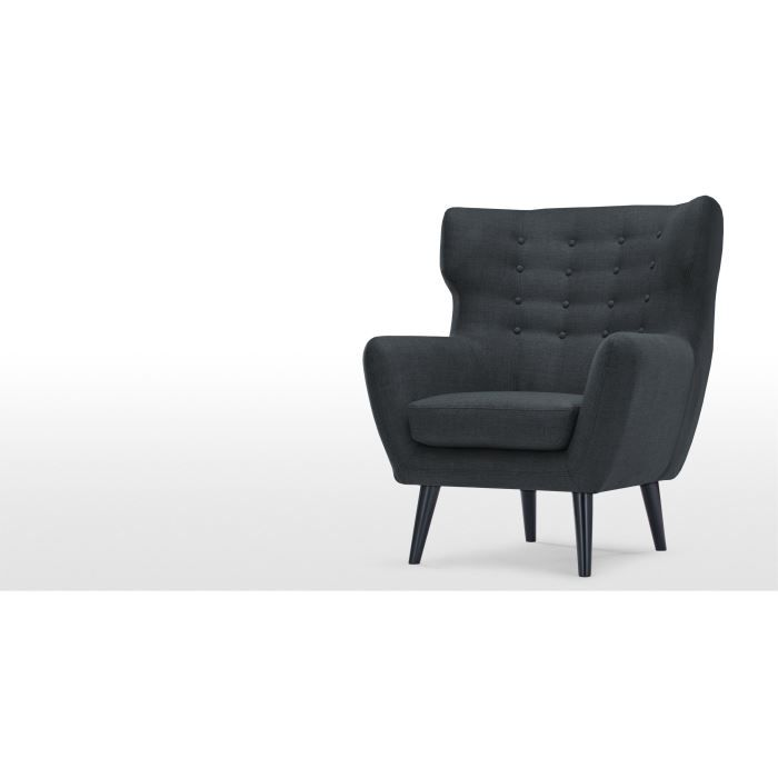 kubrick fauteuil berg re gris anthracite achat vente fauteuil gris cdiscount. Black Bedroom Furniture Sets. Home Design Ideas