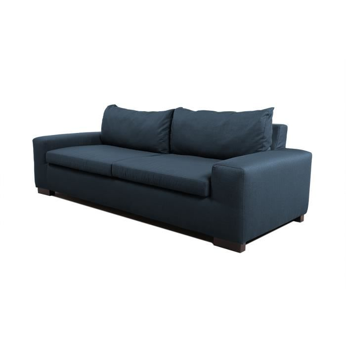 miliboo canap design 5 places bleu canard ba achat vente canap sofa divan bois. Black Bedroom Furniture Sets. Home Design Ideas