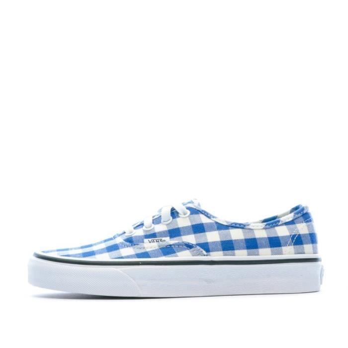 Basket carreaux blancs et bleus Femme VANS UA Authentic Bleu ...
