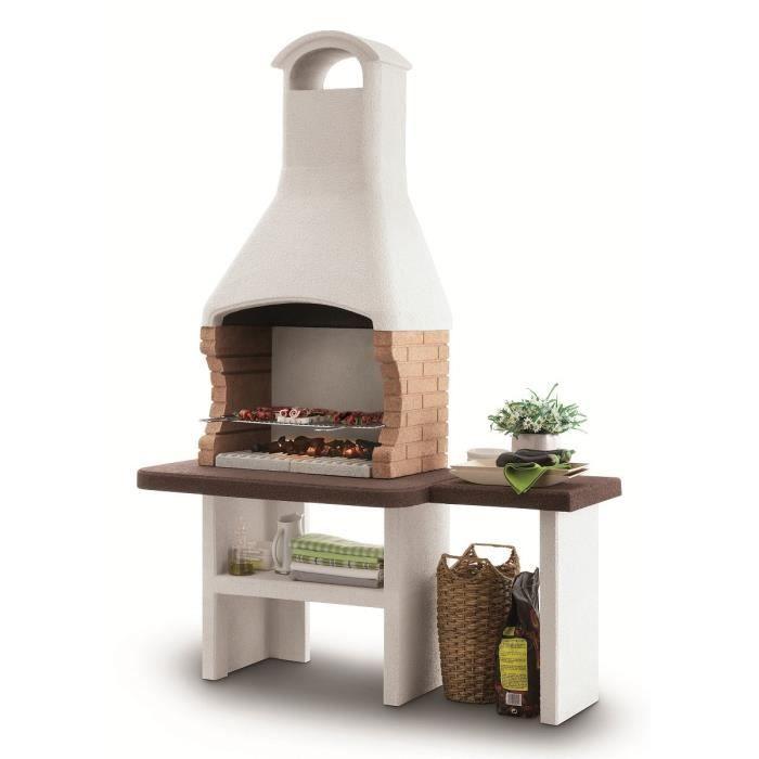Photo de barbecue-en-pierre-a-bois-et-charbon-jesolo-avec-hotte-et-plan-laterale