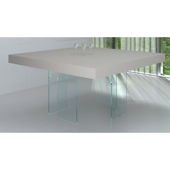 Table salle manger carree avec pied central for Table salle a manger carree design en verre