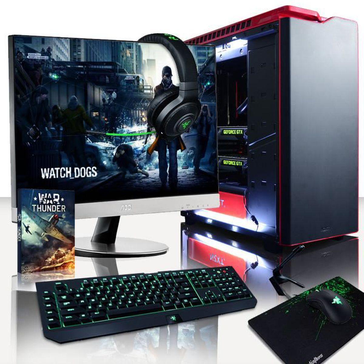 UNITÉ CENTRALE + ÉCRAN VIBOX Legend Pack 9 PC Gamer - Intel 8-Core, 2x GT