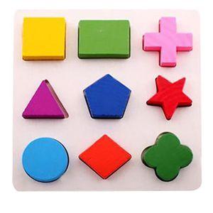 CONSOLE ÉDUCATIVE Enfants bébé géométrie en bois Building Blocks Puz