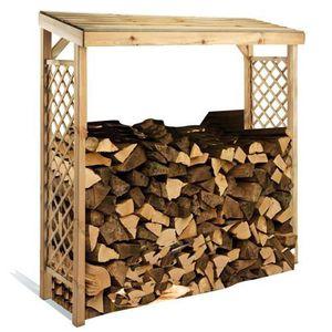 ABRI BÛCHES Abri bûches toit en bois
