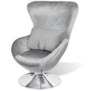FAUTEUIL Seabrook fauteuil pivotant argenté -