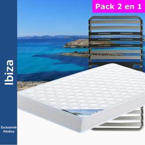 ENSEMBLE LITERIE Ibiza - Pack Matelas + AltoZone 90x190