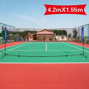 FILET DE TENNIS Filet de Badminton Transportable 420x155cm Filet d