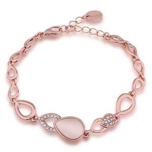 BRACELET - GOURMETTE Bracelet charms et perle Doré or rose 750/00 18K c
