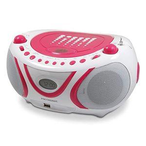 RADIO CD CASSETTE metronic 477109 radio lecteur cd mp3 portable pop