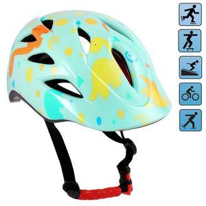 CASQUE DE VÉLO Casque de sécurité vélo enfant réglable -Vert