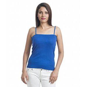 Débardeur Coton bleu Débardeur à bretelles fines pour femmes
