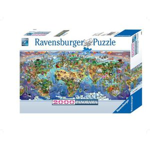 PUZZLE Ravensburger - Panorama Merveilles du Monde - Puzz