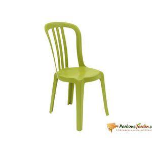 FAUTEUIL JARDIN  Chaise en résine Miami Bistro vert anis empilable