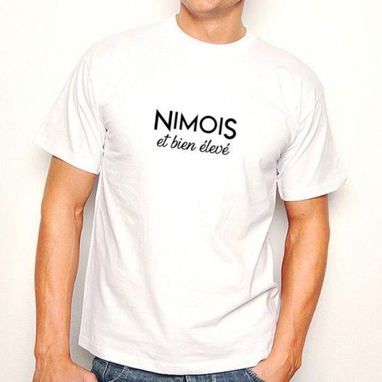 T-shirt Nimois et bien élevé Blanc - Achat