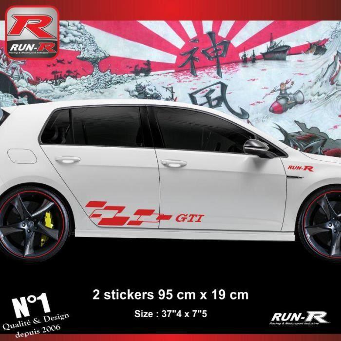 Sticker bas de caisse VOLKSWAGEN GOLF 7 aufkleber - New Design Rouge - ADNAuto