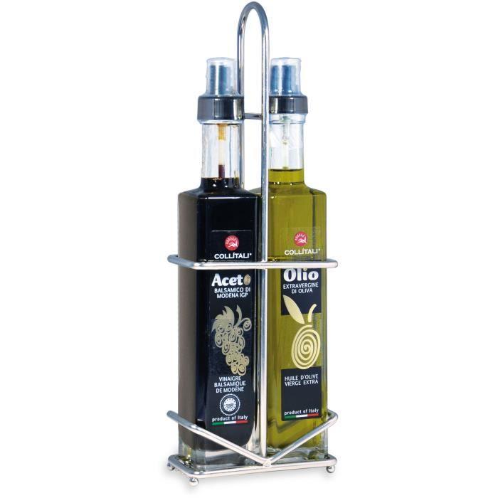 COLLITALI CONTESSA Huilier spray : 2 bouteilles huile olive Italie & vinaigre balsamique Modène IGP 2 x 250 ml