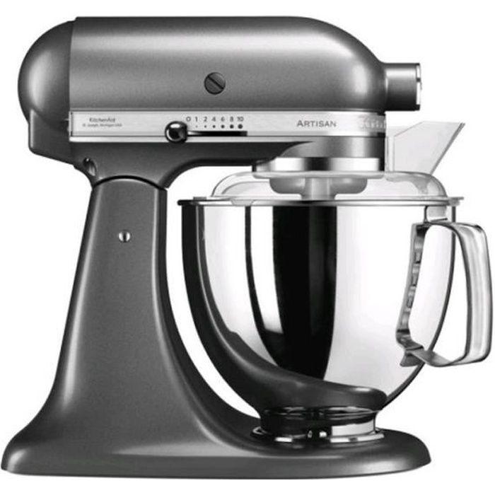 Kitchenaid - robot multifonction 4.8l 300w gris étain - 5ksm175psems
