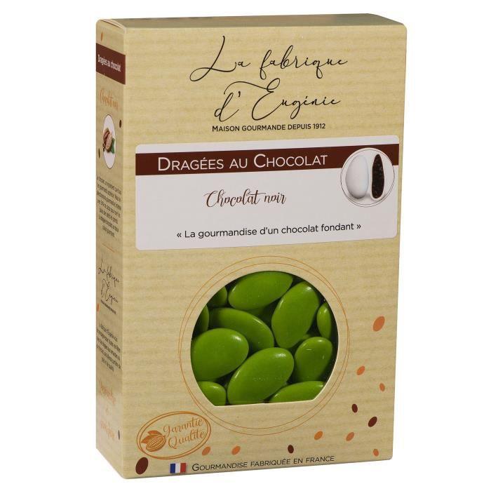 LA FABRIQUE D'EUGENIE Dragées au Chocolat - Vert anis - 500 g