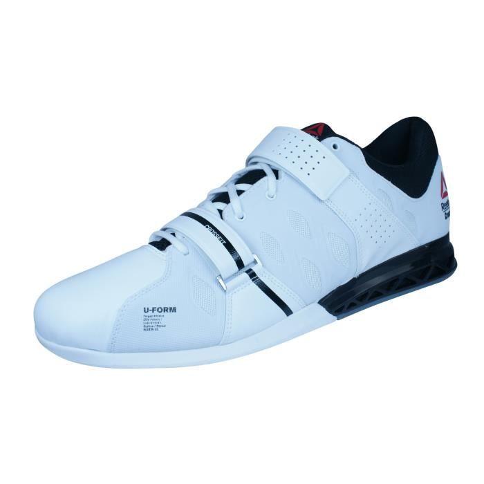 Reebok R Crossfit Lifter Plus 2.0 hommes Haltérophilie Chaussures - Baskets Blanc 14