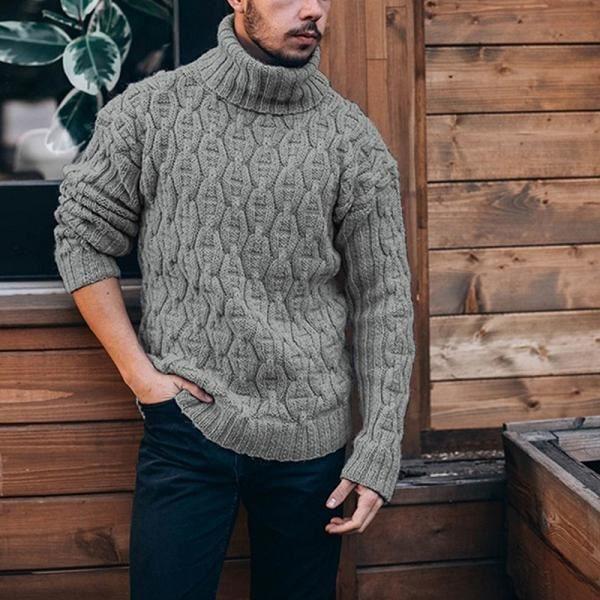 Pull homme long,2020 hiver hommes pull pull décontracté doux et confortable pull pull pull épais chaud tricoté hommes chandail hau