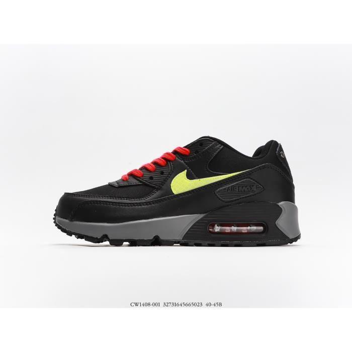 Nikes- Airss Max 90 Baskets Homme Chaussures de Course - Noir