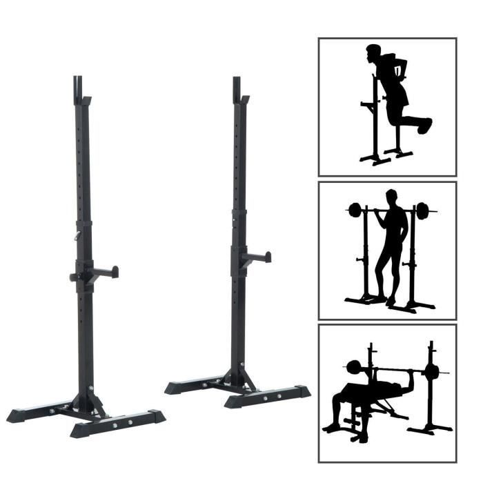 Cage de Squat Supports de Squat Réglable Squat Rack