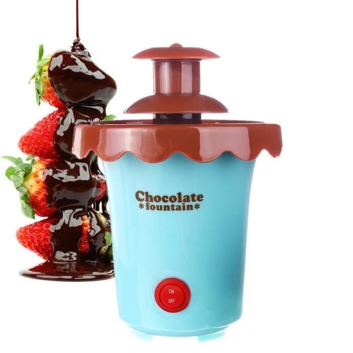 NEUFU Fontaine à Chocolat Cascade Machine 2-Étage Bleu