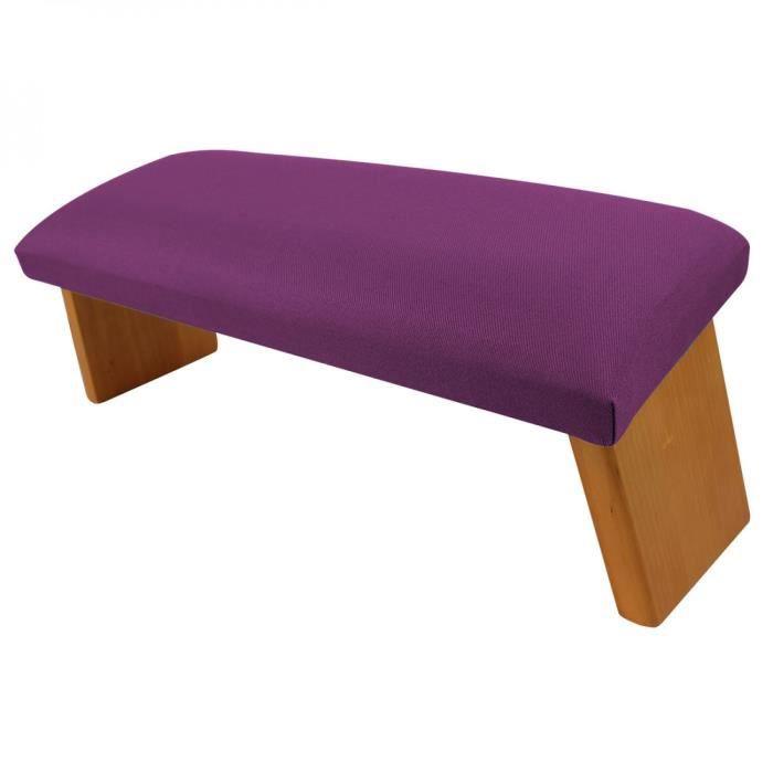 Banc, tabouret de méditation, yoga pliant en bois - Prune