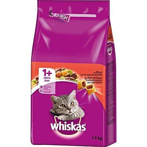 whiskas, croquettes pour Chat, Nourriture sèche pour Chat Adulte 5900951258541