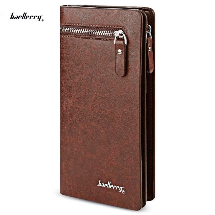 PORTEFEUILLE Solide Couleur Téléphone portable argent Carte pho