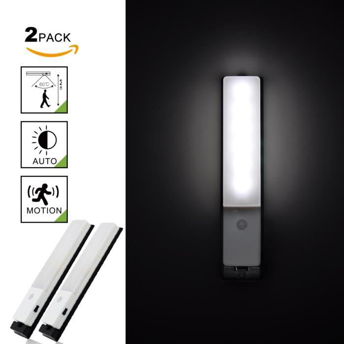 usb rechargeable lampe veilleuse led avec d tecteur de mouvement pir sans fil eclairage sous. Black Bedroom Furniture Sets. Home Design Ideas