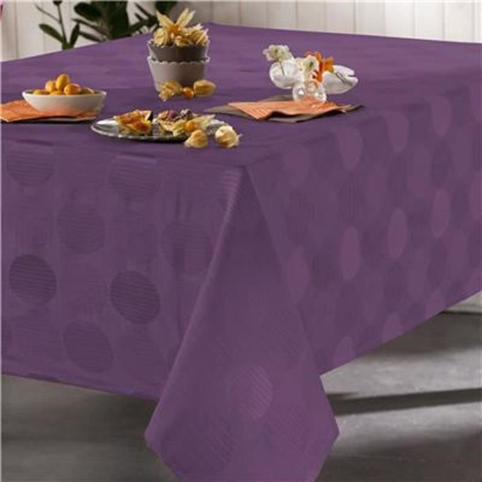 nappe rectangulaire violet achat vente nappe. Black Bedroom Furniture Sets. Home Design Ideas