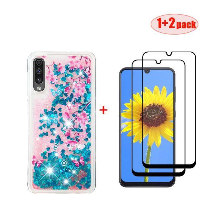 Coque Samsung Galaxy A50 2019Souple TPU Housse Étui Pour Samsung Galaxy A50 2019 et 2 X Film verre trempé