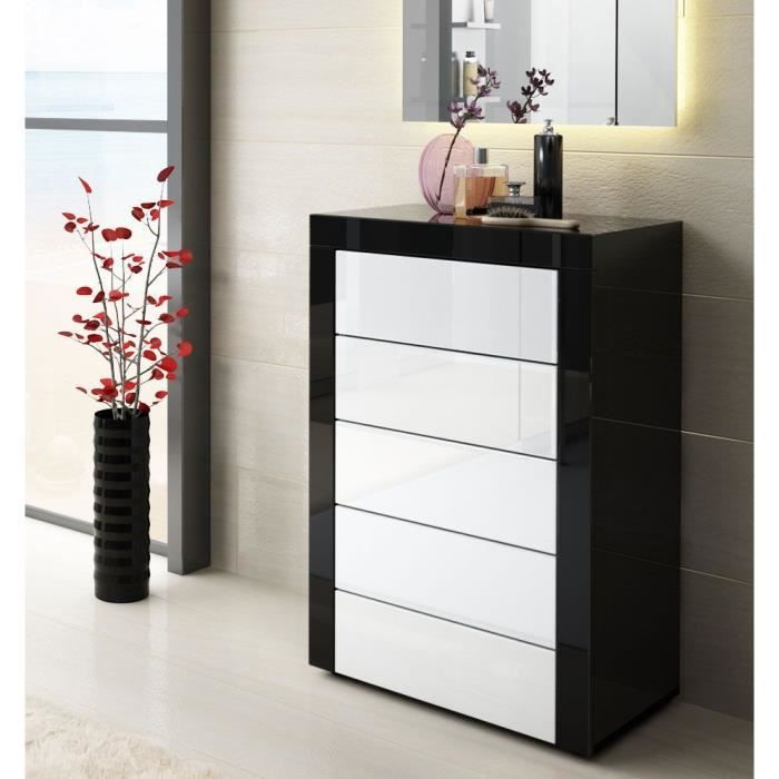 commode blanc noir. Black Bedroom Furniture Sets. Home Design Ideas