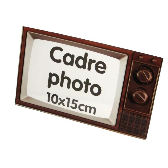 cadre photo motif television vintage deco retro achat vente cadre photo cdiscount. Black Bedroom Furniture Sets. Home Design Ideas
