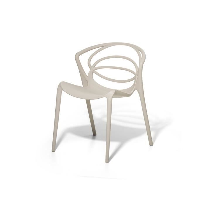 chaise de jardin design si ge en plastique beige bend achat vente fauteuil jardin chaise. Black Bedroom Furniture Sets. Home Design Ideas