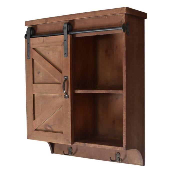 etag re armoire murale campagne industriel en bois de cuisine 70 cm achat vente etag re. Black Bedroom Furniture Sets. Home Design Ideas